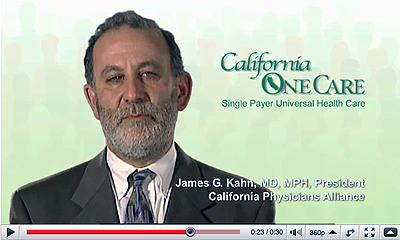 The U.S. does not have the best health care in the world, says James Kahn, MD, MPH, President of the California Physicians Alliance. We spend twice as much other developed countries, and our health care system ranks 37th. The countries with the best outcomes at the lowest costs are those who use some form of single payer like California OneCare.